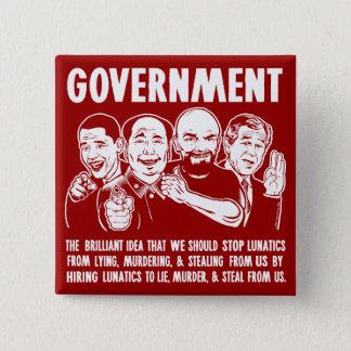 Government Lunatics Buttons