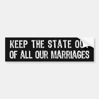 Government Marriage Bumper Sticker
