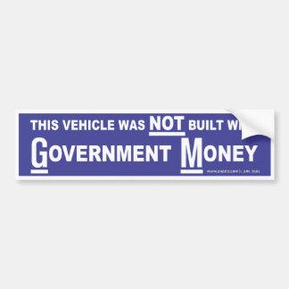 Government Money Bumper Sticker