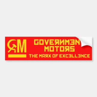 Government Motors Bumper Sticker