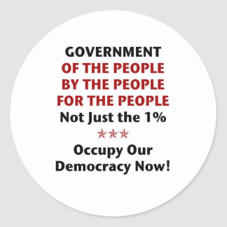 Government Of the People Round Sticker