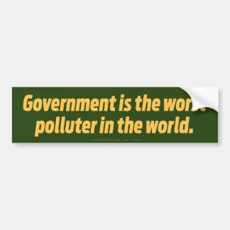 Government Pollution Bumper Sticker