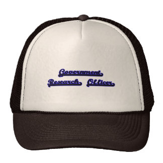 Government Research Officer Classic Job Design Trucker Hat