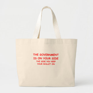 government spending canvas bags