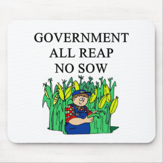 government waste joke mouse pad