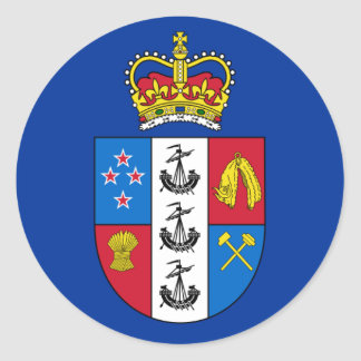 Governor-General Of New Zealand, New Zealand flag Round Sticker