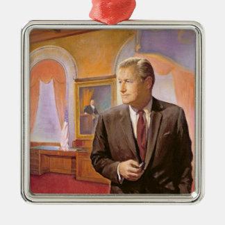 Governor Nelson A. Rockefeller Silver-Colored Square Decoration