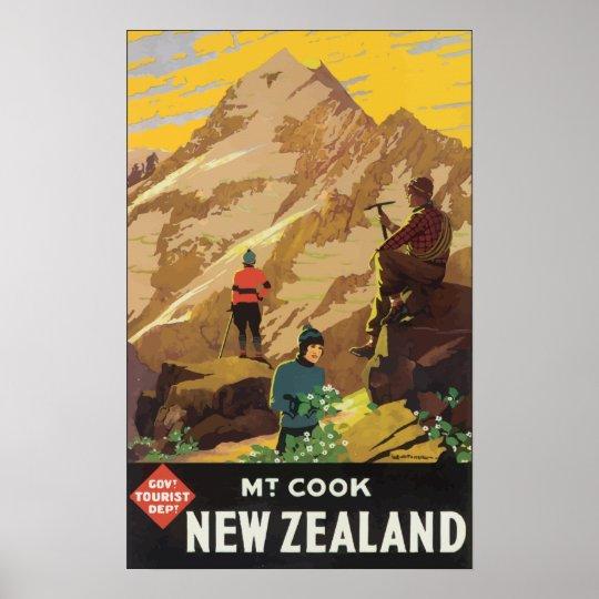 Govt Tourist Dept Mt Cook New Zealand, Vintage