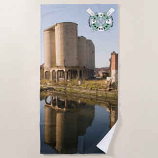 Gowanus Dredgers Beach Towel of Grain Silos