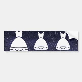 Gown Dresses Symbol Bumper Sticker