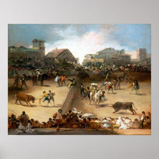 Goya Bullfight in a Divided Ring Poster