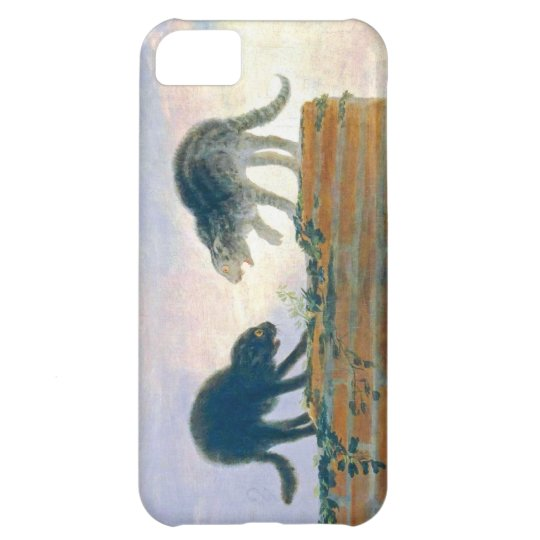 Goya cats on a rooftop iPhone 5C case