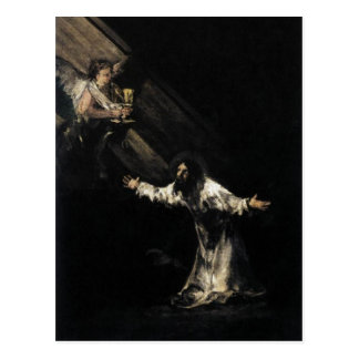 Goya, Christ on the Mount of Olives 1819 Oil on pa Postcard