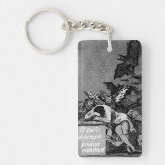 Goya The Sleep of Reason Produces Monsters Key Ring
