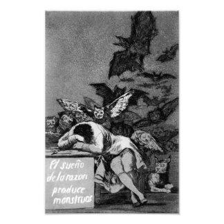 Goya The Sleep of Reason Produces Monsters print Photograph