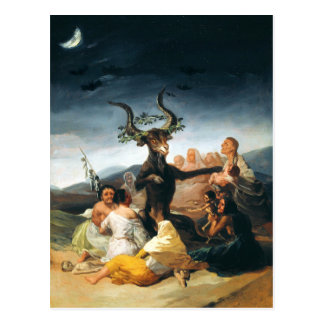 Goya Witches Sabbath Postcard
