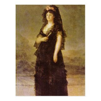 Goya y Lucientes, Francisco de Portrait of the Que Postcard