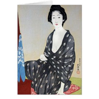 """Goyo """"Woman in Kimono"""" Card"""