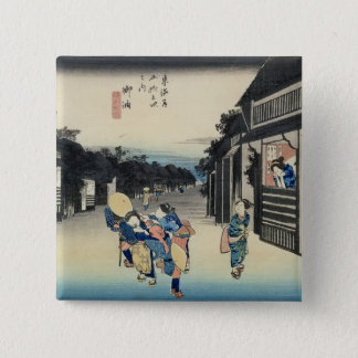 Goyu: Waitresses Soliciting Travellers 15 Cm Square Badge