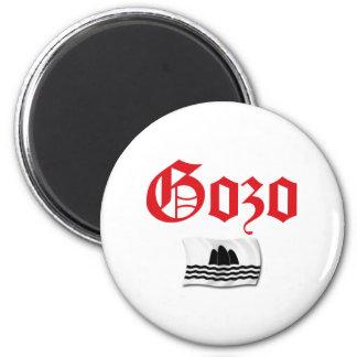 Gozo Flag 6 Cm Round Magnet