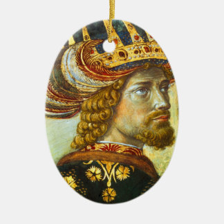 Gozzoli: John VIII Palaiologos, Ceramic Oval Decoration