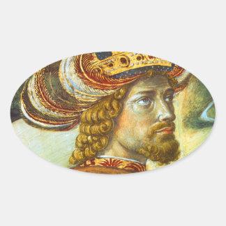 Gozzoli: John VIII Palaiologos, Oval Sticker