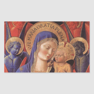 Gozzoli: Madonna and Child, Rectangular Sticker