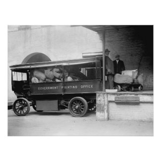 GPO Truck, 1912 Poster