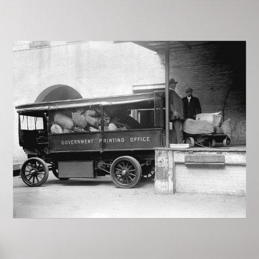 GPO Truck, 1912 Print
