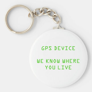 GPS DEVICE BASIC ROUND BUTTON KEY RING