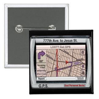 GPS God Personal Savior Pinback Button
