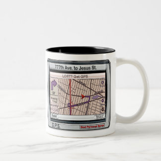 GPS God Personal Savior Two-Tone Mug