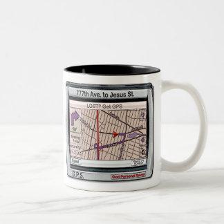 GPS God Personal Savior Two-Tone Mug