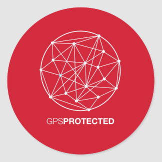 GPS Protected Classic Round Sticker