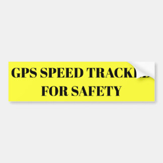 GPS Speed Tracked For Safety sticker