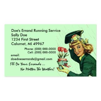GR8 Retro Business Card Errand Running Services