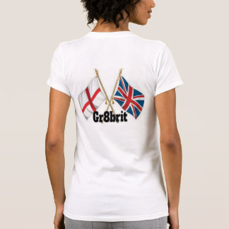 Gr8brit Women's Fitted T-Shirt, White T-Shirt