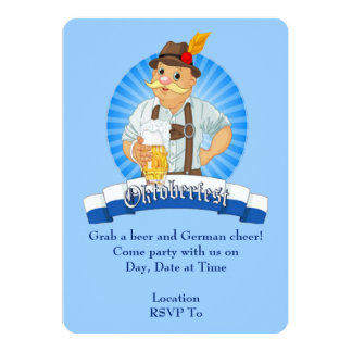 Grab A Beer! Oktoberfest Party Invitations