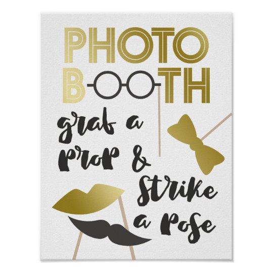 Grab a Prop Charming Faux Gold Photo Booth