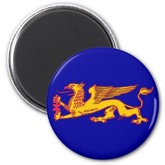 Grab gryphon 6 cm round magnet