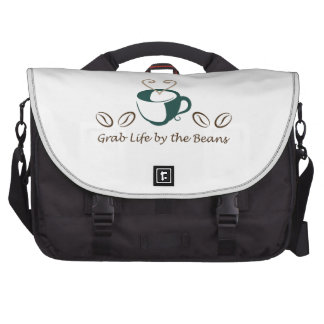 GRAB LIFE BY THE BEANS COMPUTER BAG