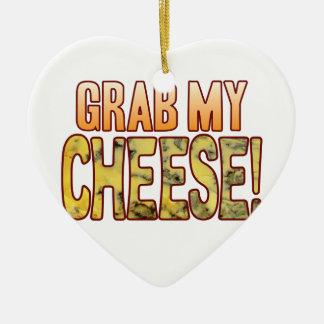 Grab My Blue Cheese Ceramic Heart Decoration