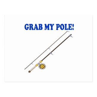 Grab My Pole Postcard
