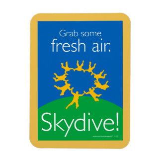 Grab some fresh air. Skydive! Rectangular Photo Magnet