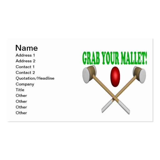 Grab Your Mallet Business Card Template