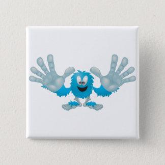 grabby slap ten furry blue goofy monster 15 cm square badge