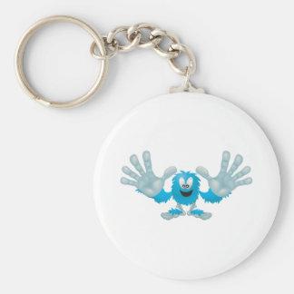 grabby slap ten furry blue goofy monster key ring