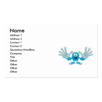 grabby slap ten furry blue goofy monster pack of standard business cards