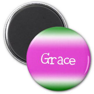 Grace 6 Cm Round Magnet