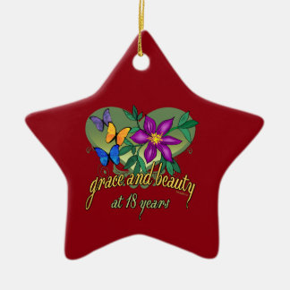 Grace and Beauty at 18 years old Christmas Ornament